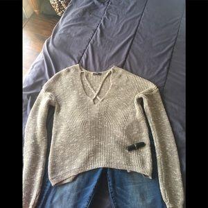 Gray express sweater